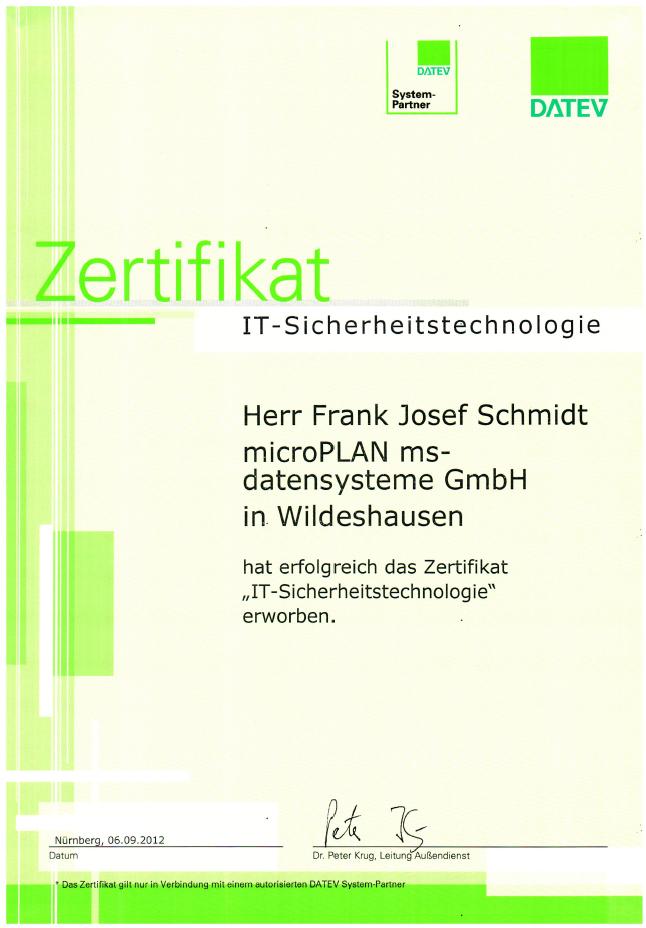 DATEV IT-Sicherheitstechnologie Frank Josef Schmidt