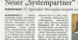 NWZ über micro PLAN ms-datensysteme